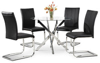 Tori 5-Piece Dining Package - Black