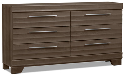 Olivia Dresser - Grey - Modern style Dresser in Grey Engineered Wood and Laminate Veneers