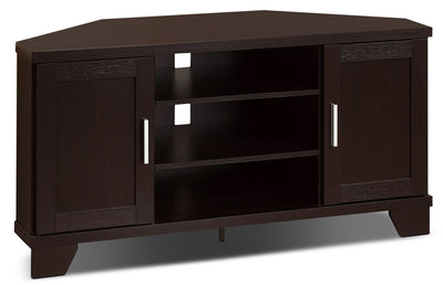 "Bailey 47"" Corner TV Stand - Contemporary style TV Stand in Espresso Wood"