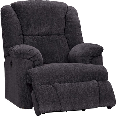 Bmaxx Grey Chenille Power Recliner - Contemporary style Chair in Grey