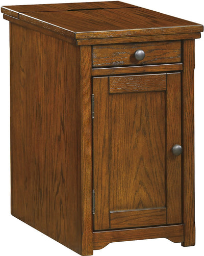 Coventry Accent Table – Burnished Brown - Traditional style End Table in Burnished Brown Wood