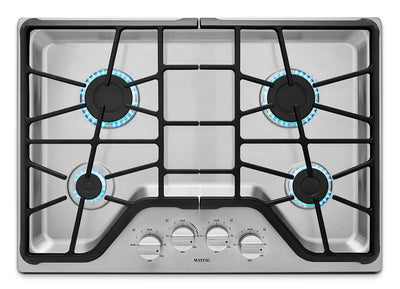 "Maytag 30"" 4-Burner Gas Cooktop – Stainless Steel - Gas Cooktop in Stainless Steel"