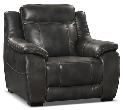 Novo Leather-Look Fabric Power Reclining Chair – Grey|Fauteuil à inclinaison électrique Novo en tissu d'apparence cuir - gris|NOVOGYPC
