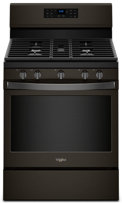 Whirlpool 5.0 Cu. Ft. Freestanding Gas Range with Fan Convection Cooking - WFG550S0HV - Gas Range in Black Stainless Steel