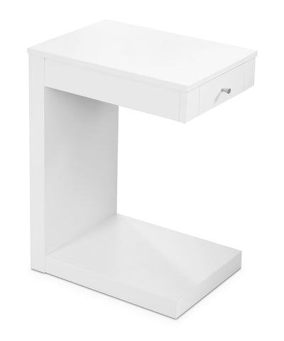 Hampshire Accent Table – White - Modern style End Table in White Wood