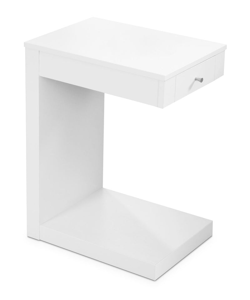 Hampshire Accent Table – White|Table d'appoint Hampshire - blanche|HAMWHCST