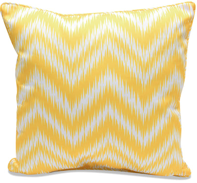 Yellow Zigzag Accent Pillow|Coussin décoratif zigzags jaunes|YELLOWPP