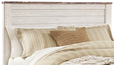 Willowton Queen Headboard - Country style Headboard in White Engineered Wood and Laminate Veneers