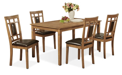 Aran 5-Piece Dining Package – Light Mango
