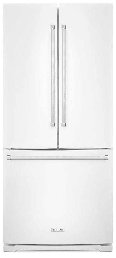 KitchenAid 19.7 Cu. Ft. French Door Refrigerator with Interior Water Dispenser - KRFF300EWH|Réfrigérateur KitchenAid de 19,7 pi³ à portes françaises avec distributeur - KRFF300EWH|KRFF300W