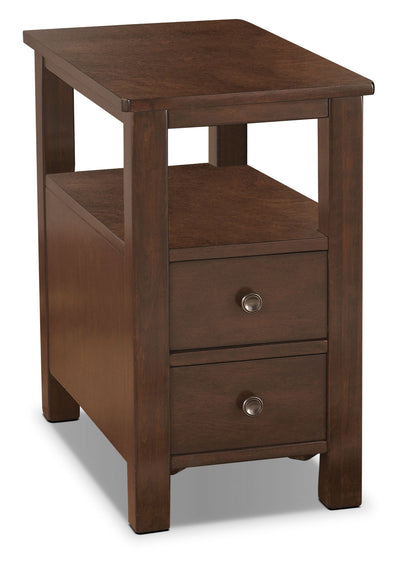 Marion Chairside Table - Contemporary style End Table in Dark Brown Wood