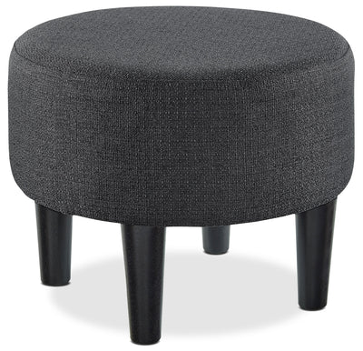 Miami Ottoman - Contemporary style Ottoman in Beige Wood and Polyester