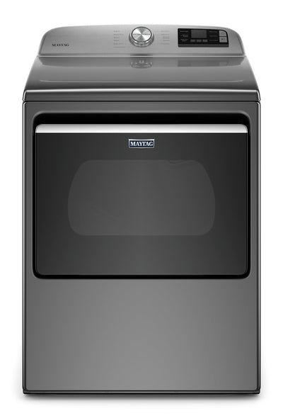 Maytag 7.4 Cu. Ft. Smart Front-Load Electric Dryer - YMED6230HC - Dryer in Metallic Slate