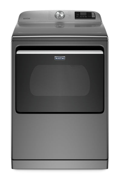 Maytag 7.4 Cu. Ft. Smart Front-Load Electric Dryer with Steam - YMED7230HC - Dryer in Metallic Slate