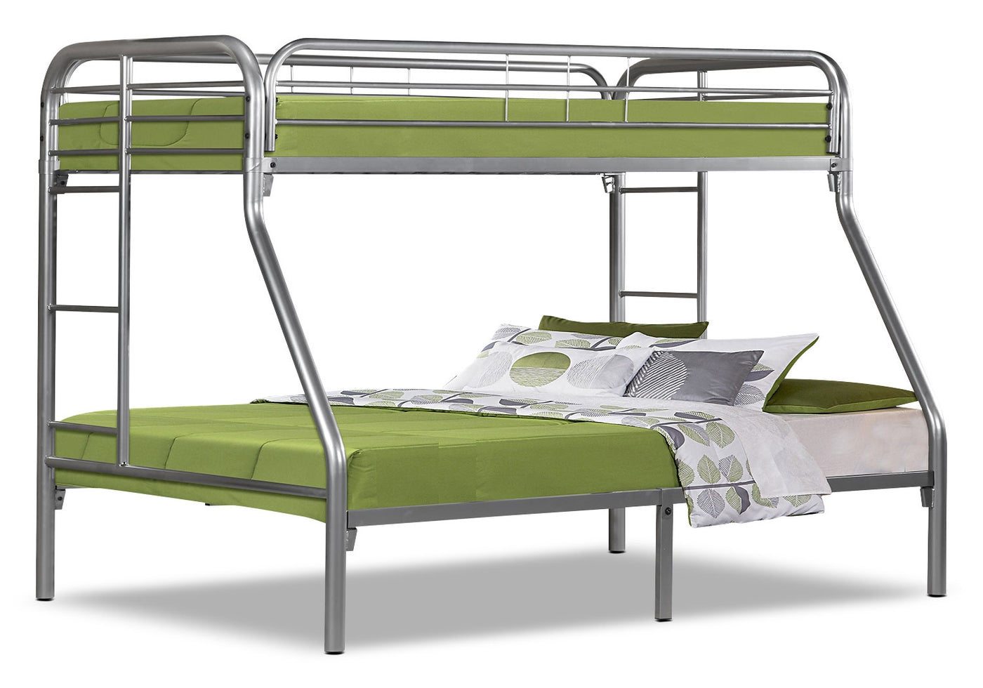 Picture of: Monarch Twin Full Bunk Bed Silver The Brick