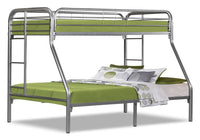 Monarch Twin/Full Bunk Bed – Silver