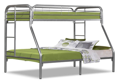 Monarch Twin/Full Bunk Bed – Silver|Lits simple et double superposés Monarch – argentés|I2231SBK
