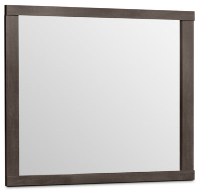 Willowdale Mirror - Contemporary style Mirror in Grey Engineered Wood and Laminate Veneers