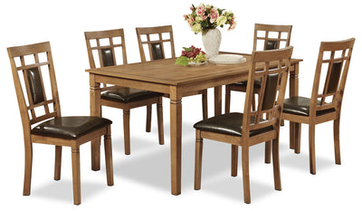 Aran 7-Piece Dining Package – Light Mango