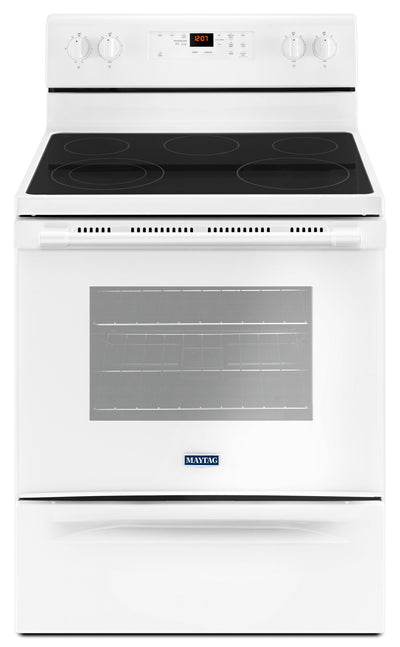 Maytag 5.3 Cu. Ft. Electric Freestanding Range – YMER6600FW - Electric Range in White