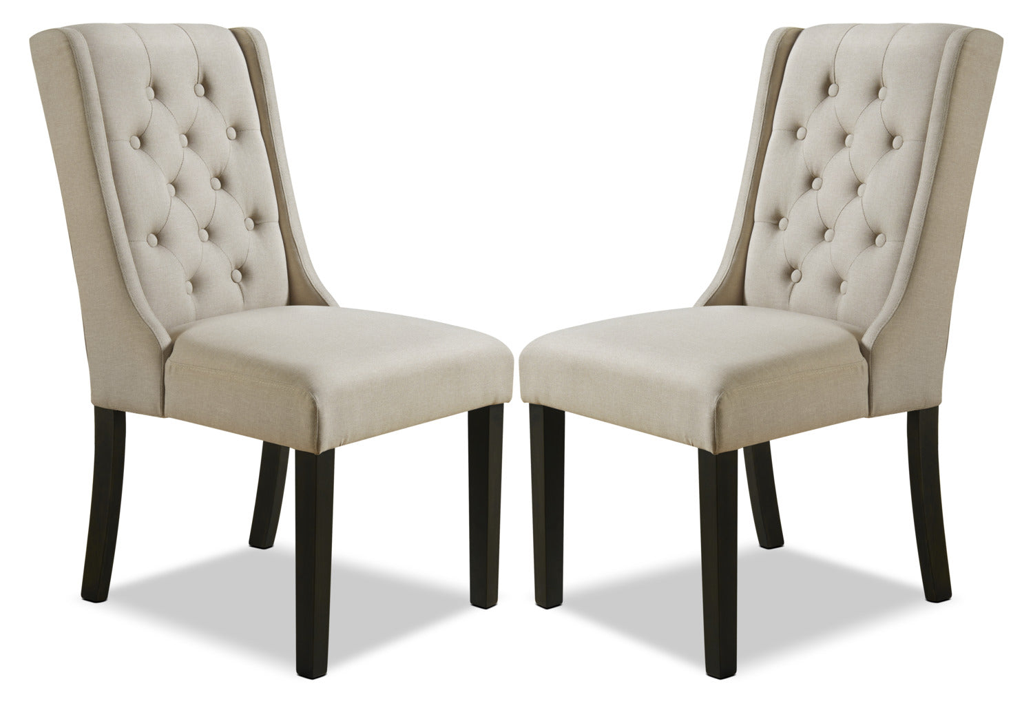 york wingback dining chair set of 2 beigechaise oreilles de salle manger york ensemble de 2 beige