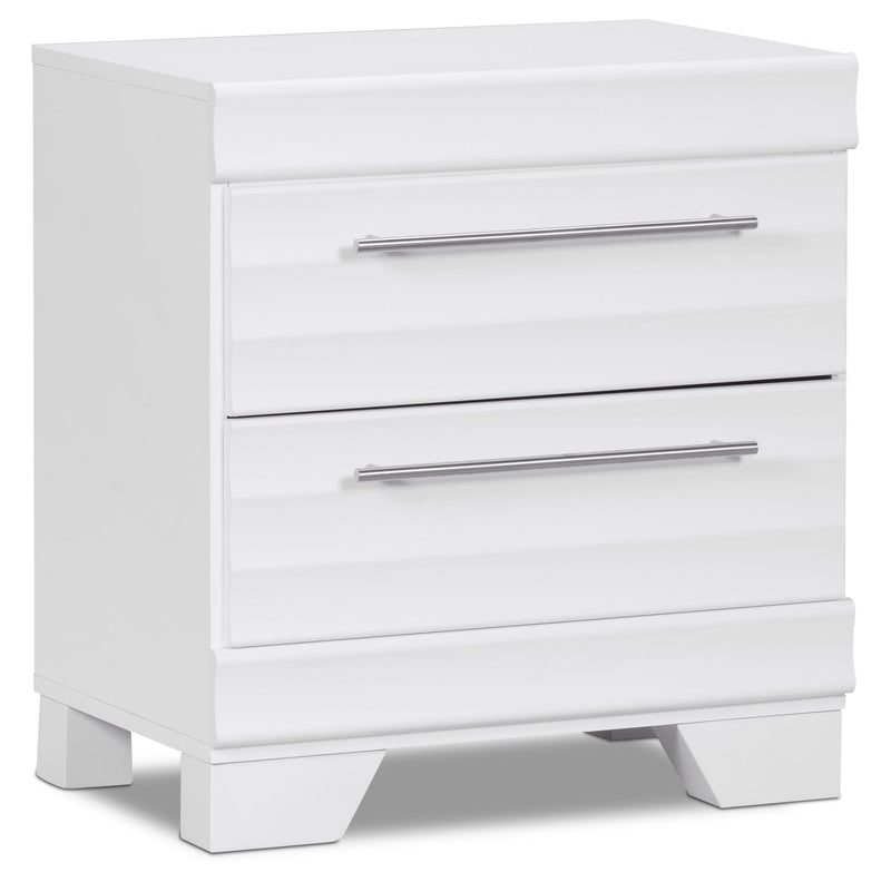 Olivia Nightstand – White|Table de nuit Olivia - blanche