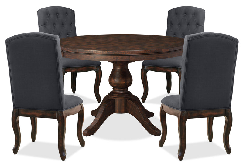 Beau Trudell 5 Piece Round Dining Package With Upholstered Chairs|Ensemble De  Salle à Manger