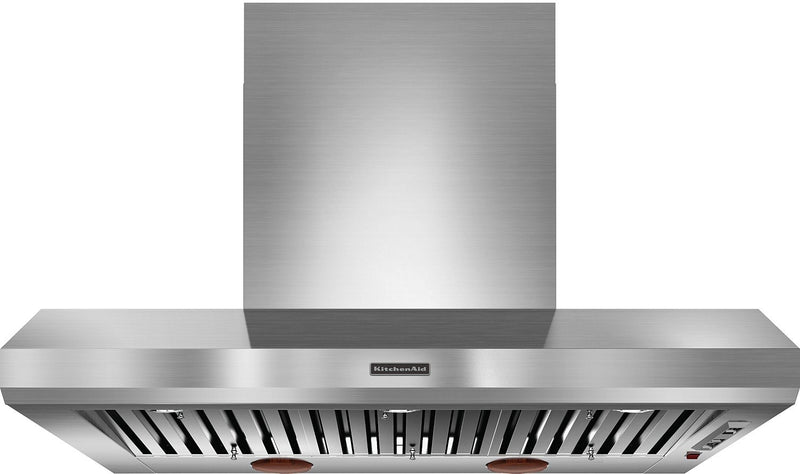 "KitchenAid® 48"" Wall Canopy Hood – Stainless Steel