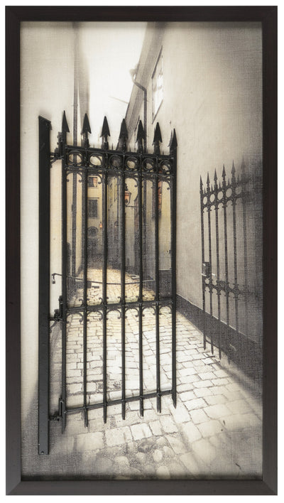 "Art and Metal Fence -18"" x 32""