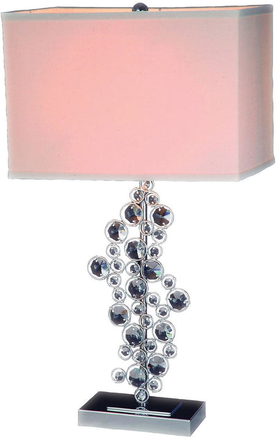 Chrome and Crystal Table Lamp|Lampe de table en chrome et ornée de cristal|105050TL