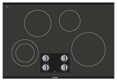 "Bosch 500 Series 30"" 4-Burner Electric Cooktop – NEM5066UC - Electric Cooktop in Black"