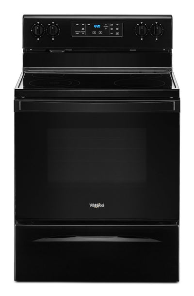 Whirlpool 5.3 Cu. Ft. Electric Range with Frozen Bake™ Technology - YWFE515S0JB - Electric Range in Black