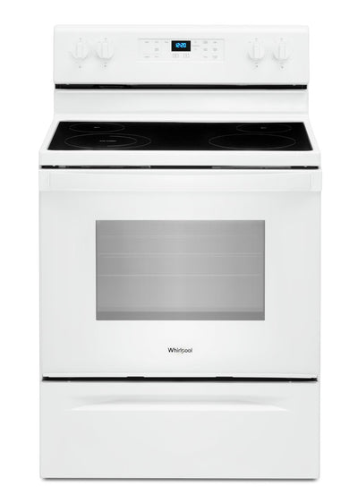 Whirlpool 5.3 Cu. Ft. Electric Range with Frozen Bake™ Technology - YWFE515S0JW - Electric Range in White