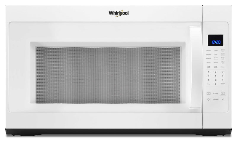 Whirlpool® 2.1 cu. ft. Over the Range Microwave with Steam cooking - Over-the-Range Microwave in White