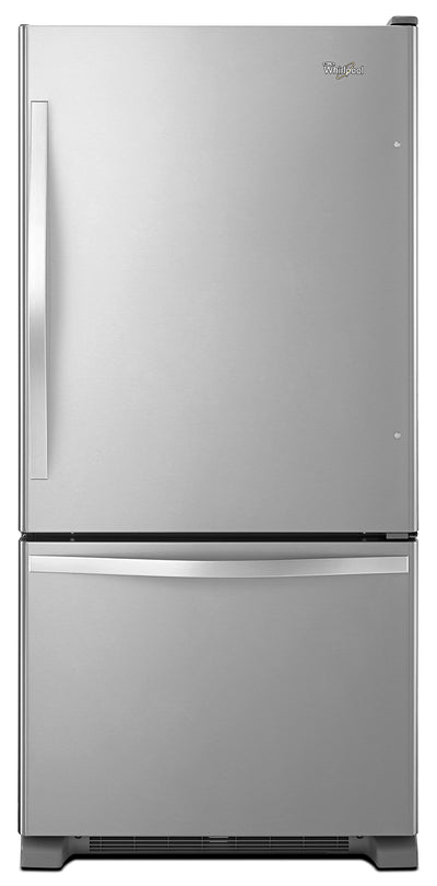 Whirlpool 22 Cu. Ft. Bottom-Mount Refrigerator – WRB322DMBM - Refrigerator in Stainless Steel