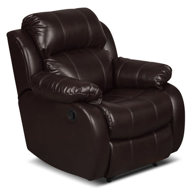 Omega 3 Leather-Look Fabric Reclining Chair – Brown - Contemporary style Chair in Brown