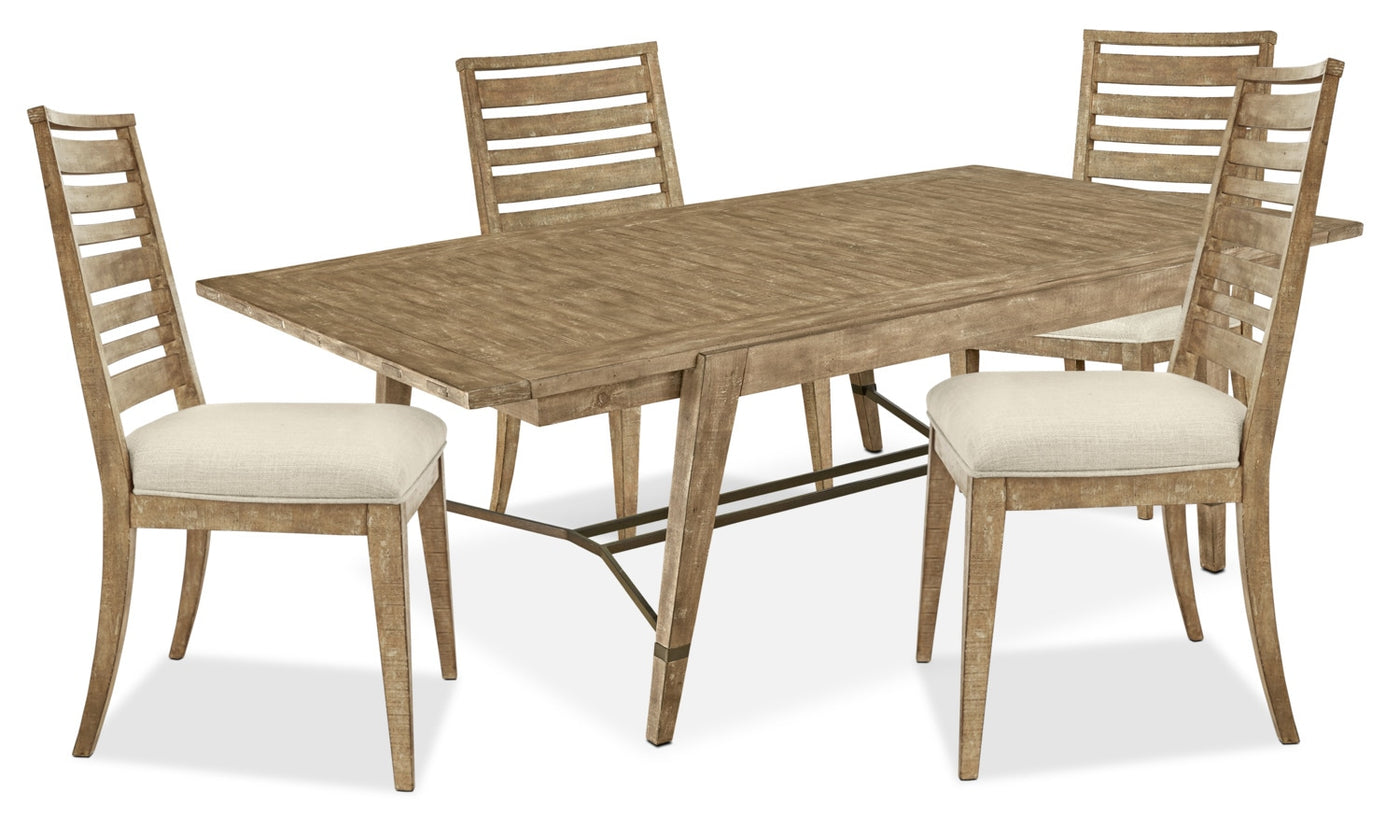 Bluff Heights 5-Piece Dining Package - Weathered Nutmeg