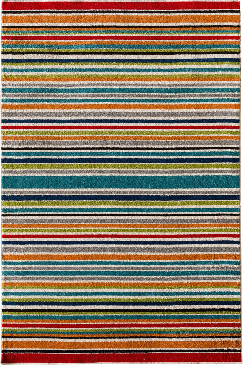 "Houston Santee Multi-Coloured Indoor/Outdoor Area Rug – 6'7"" x 9'6""