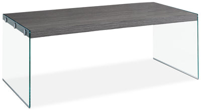 Yonah Coffee Table – Grey - Modern style Coffee Table in Dark Grey Glass