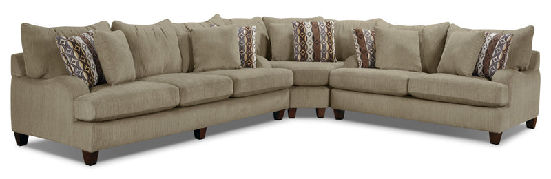 Putty Chenille Sectional - Beige|Sofa sectionnel Putty en chenille - brun|PUTTYPK3