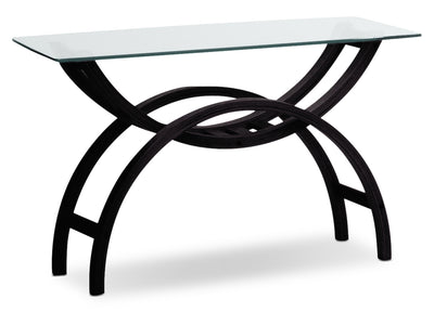 Brooklyn Sofa Table - Modern style Sofa Table in Espresso Glass and Wood