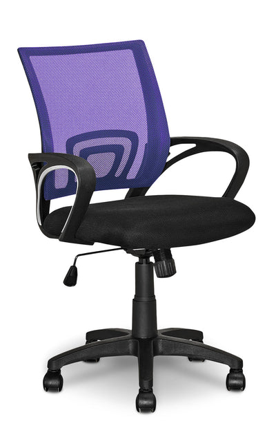 Loft Mesh Office Chair – Purple|Chaise de bureau Loft en mailles - violet|LOFPLCHR