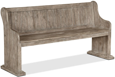 Keswick Dining Bench – Dovetail Grey - Rustic style Dining Bench in Grey Pine