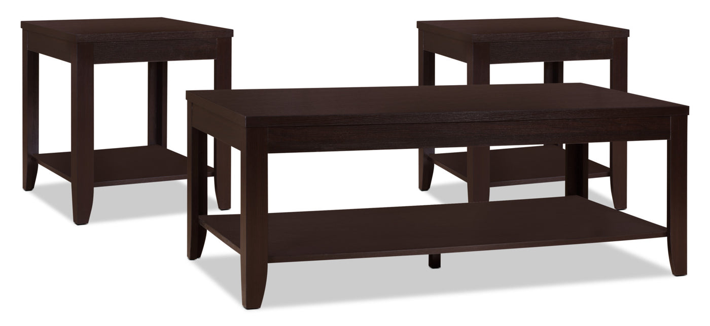 - Aspen 3-Piece Coffee And Two End Tables Package The Brick