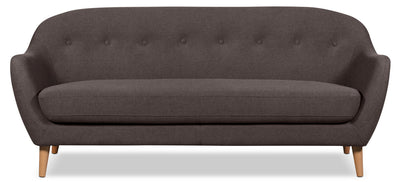 Calla Linen-Look Fabric Sofa – Dark Grey - Modern style Sofa in Dark Grey