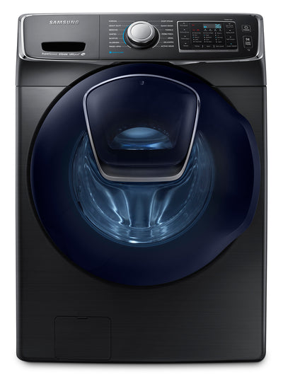 Samsung 5.2 Cu. Ft. Front-Load Washer – Black Stainless Steel WF45K6500AV/A2 - Washer in Black Stainless Steel