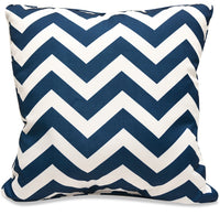 Navy Zigzag Accent Pillow