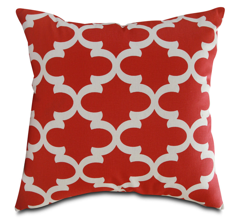 Red Geo Accent Pillow|Coussin décoratif Red Geo