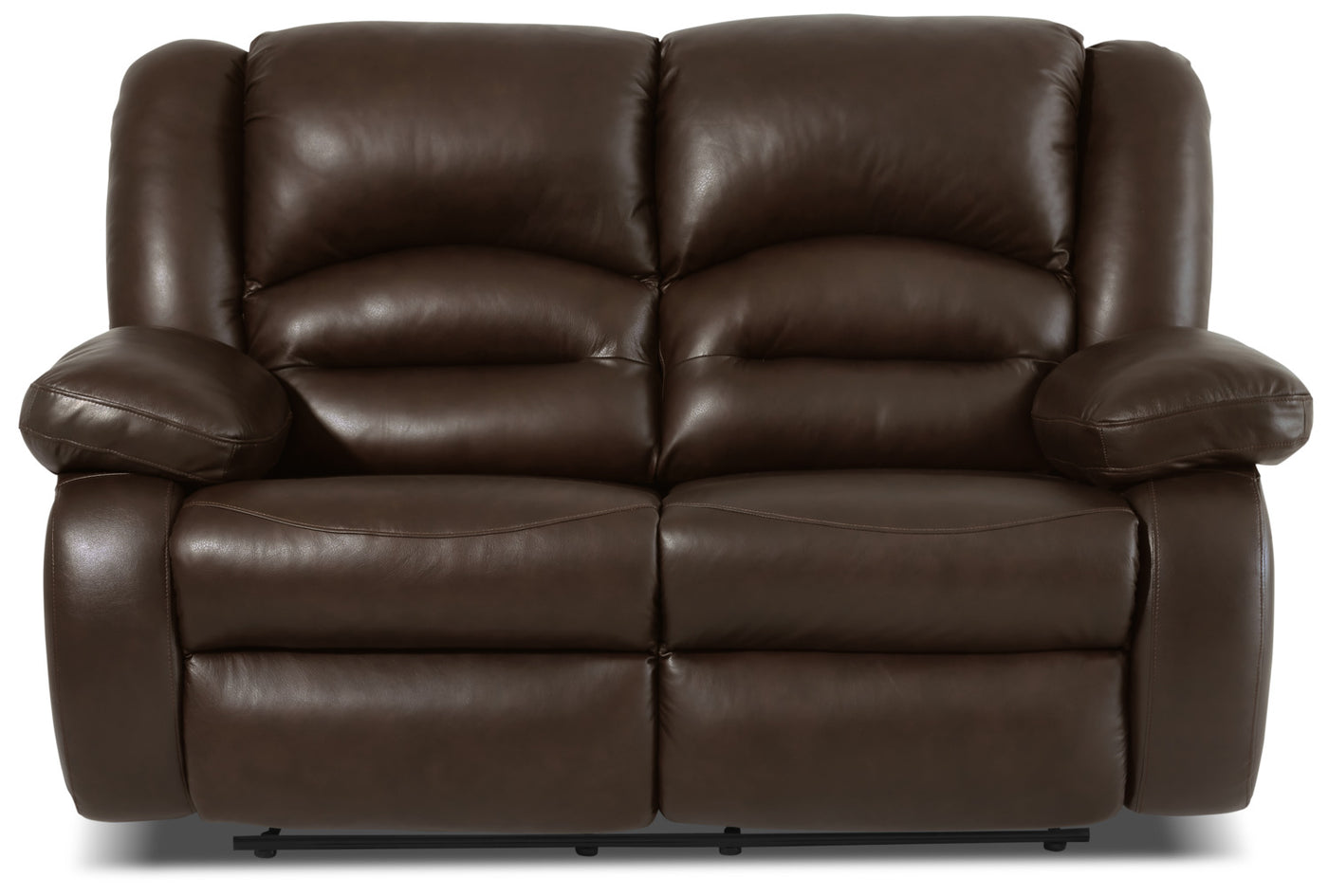 Fine Toreno Genuine Leather Reclining Loveseat Brown Caraccident5 Cool Chair Designs And Ideas Caraccident5Info