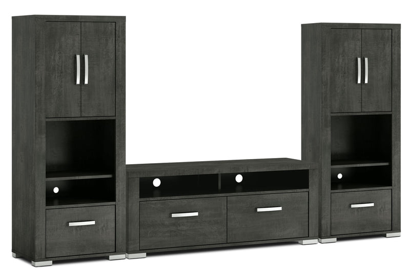 "Allendale 3-Piece Entertainment Centre with 56"" TV Opening and Closed Piers - Anthracite"